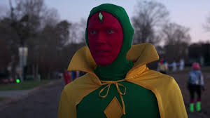 Vision, too, dons a halloween outfit styled like his traditional comic book costume. Wandavision Episode 6 Devilish Deals And More Burning Questions Variety