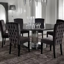 italian modern designer chrome round dining table on modern dining room sets uk