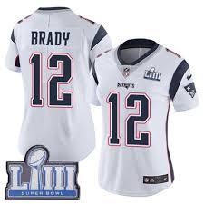 Patriots Brady Women's Shirt 12 White Tom T Store-trending 2019 Liii England New Super - Patch Manzic Bowl