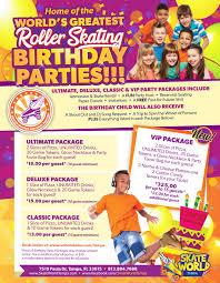 Child S Birthday Party Kids Birthday Parties Best Kids Parties Tampa Skateworld