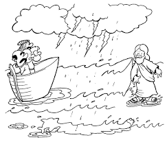 jesus walks on water coloring page. Beautiful Page Jesus Walks On Water Colouring Page With Coloring A