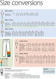 Uk Glove Size Conversion Chart Size Conversion Chart