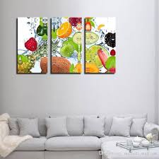 3 picture combination colorful various fruit with splash water wall art painting print on canvas pictures food for home decor from china paintings er