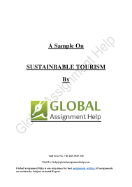 sample on sustainbable tourism