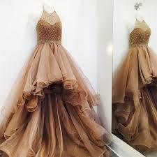 Elegant Long Gown Design 2018 2018 High Low Unique Design Modern Prom Dresses Popular