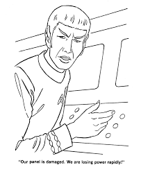 Small Picture Star Trek Coloring Pages Mr Spock At Damage Control Station TV