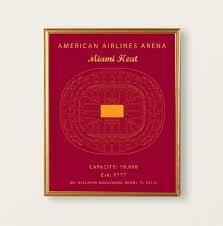 American Airlines Arena Seating Chart Miami Heat Miami Heat Sign Miami Heat Poster Miami Heat Prints Gift For Miami Heat Fan Vintage