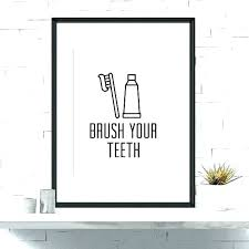 Modern bathroom art Wall Decor Kids Bathroom Sign Bathroom Art For Kids Modern Bathroom Art Dental Art Kids Bathroom Brush Your Teeth Dentist Sign Home Ideas Magazine Media Kit Home Decor Eminiordenclub Kids Bathroom Sign Bathroom Art For Kids Modern Bathroom Art Dental
