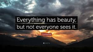 "Confucius Beauty Quote Best Of Confucius Quote ""Everything Has Beauty But Not Everyone Sees It"