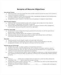 Admin Resume Objective Resume Objective Entry Level Position For Objectives Administrative