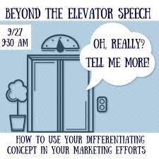 Elavator Speech Beyond The Elevator Speech Sharon Ma Patch