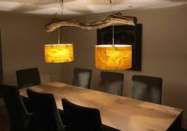 Ceiling Lamp Of Weathered Old Oak Branch Lamp Eettafel