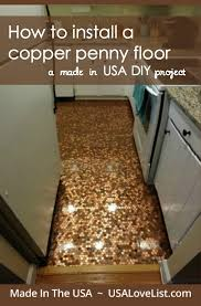 penny floor diy how to install a copper penny floor using step by