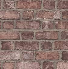 tumbled red brick wallpaper distressed