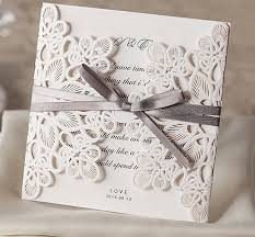 Wholesale 10pcs Lot Laser Cut Wedding Invitations Elegant Wedding Invitations Ribbon Invitation Cards In Cards Invitations From Home Garden On