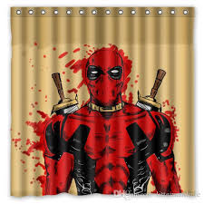 2019 deadpool marvel comics design shower curtain size 180 x 180 cm custom waterproof polyester fabric bath shower curtains from littemanthree