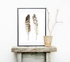 <b>Watercolor Feather</b> Print Boho <b>Wall Decor Watercolor</b> Print Gold ...