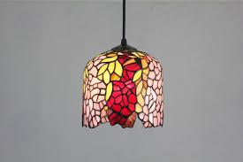 hanging pendant lighting. wisteria tiffany stained glass hanging pendant lighting
