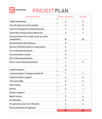 Sample Project Plan Outline Best Project Plan Template For Excel 9 Free Word Excel