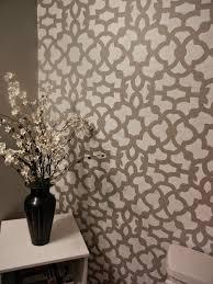 zamira allover stenciled bathroom wall