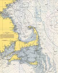 Vintage Cape Cod Nautical Chart 1945v