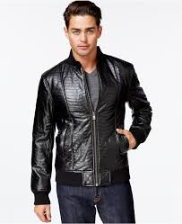 guess colin quilted faux leather jacket
