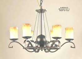 round pillar candle chandelier faux 3 outdoor electric parts