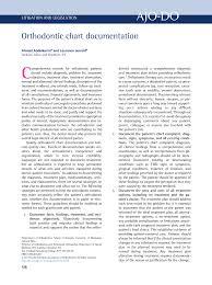 Pdf Orthodontic Chart Documentation