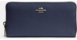 Lyst - Coach Accordion Zip Wallet In Embossed Textured Leather in Black
