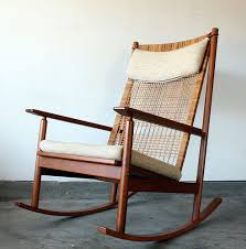 Furniture Modern Rocking Chair Inspiring Designs Hans Olsen Teak Danish Mid Century