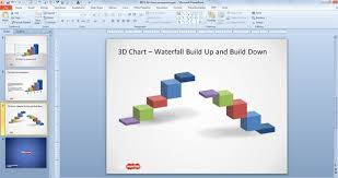 Waterfall Chart Ppt 3d Concept Bar Charts For Powerpoint Presentations