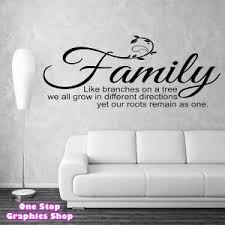 family like branches wall sticker on wall art quote stickers uk with family like branches on a tree wall art quote sticker bedroom