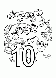 Small Picture Number 10 coloring pages for preschoolers counting numbers