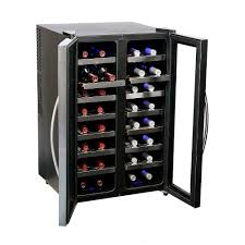 Cabinet With Wine Cooler Whynter 32 Bottle Dual Zone Wine Cooler Wc 321dd The Home Depot