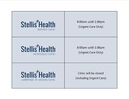 Stellis Health My Chart Sh Holiday Hours Stellis Health