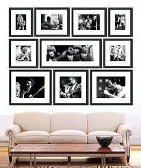 black photo frame wall art