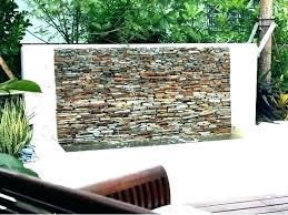 diy patio water feature outdoor wall