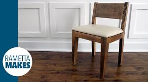 how to make a modern wood chair with leather seat  diy  youtube