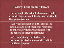 Classical Conditioning In The Classroom Ppt Educational Psychology Powerpoint Presentation Id 222413