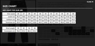 Nudie Slim Jim Size Chart Nudie Jeans Panduan Size Slim Jim