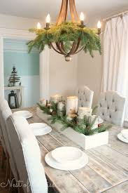 dinner table centerpiece ideas tour farmhouse table with birch candles love the table chairs chandelier find this pin and more on dining table