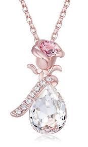 swarovski flower pendant necklace