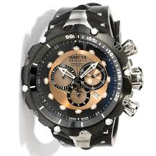 invicta watches for men invicta watches for men image for men s venom reserve chrono black polyurethane rose tone dial from world of watches invicta venom black dial chronograph men s watch 0360 relógio