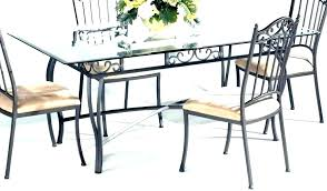 glass top dining table with metal base round dining table metal base oval s top room