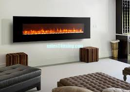 led flame 95 wall mounted electric fireplace modern flat black