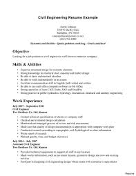 Resume Objective Civil Engineer Beautiful College Freshman Resume 100 Student Samples No Experience 5