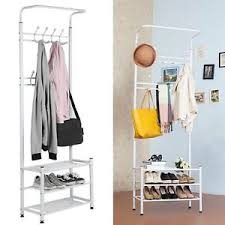 Metal Entryway Storage Bench With Coat Rack Entryway Storage Bench Coat Rack White Metal Wood Seat Shelf Hall 36