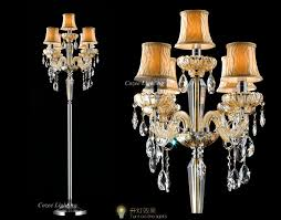 crystal chandelier floor lamp the aquaria intended for incredible residence standing chandelier floor lamp decor