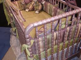 round crib bedding the wedding cake all pure silk