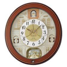 seiko qxm368brh melos in motion al wall clock